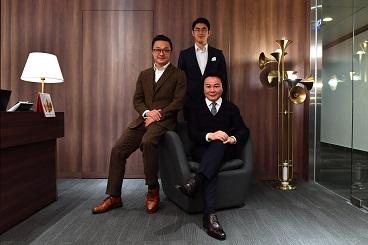 (左起)AIA友邦精英學院 創新香港-國際人才嘉年華2019副主席王森楠、執行主席趙磊、主席馬鴻銘 BBS,JP。