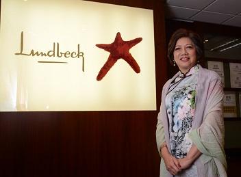 丹麥靈北大藥廠香港區總經理潘淑嫺。