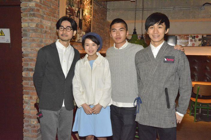 阿修(左三)遇上黃修平導演(左一)公開招募演員。